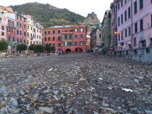 piazza after 300x225 Vernazza, Devastated.