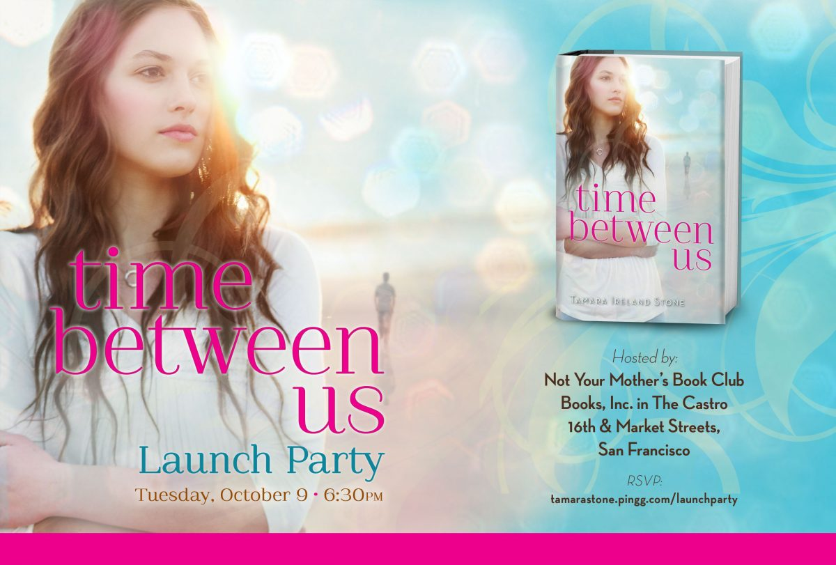 Time Between Us launch evite Launch Party!